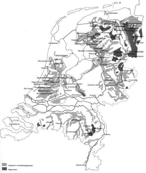 Nederland omstreeks het jaar 1300.